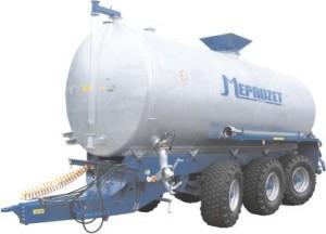 MEPROZET WOZY ASENIZACYJNE 9000 l – 26000 l nalewowe z hydrauliczną pompą wirnikową